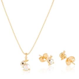 Komplet biżuterii króliczek Xuping PK621