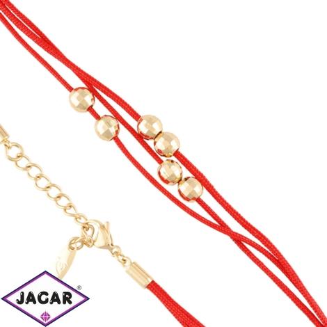 Bransoletka czerwony sznurek Xuping BP9381