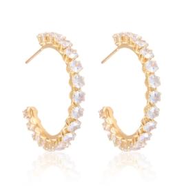 Kolczyki koła z kryształkami Xuping EAP18626