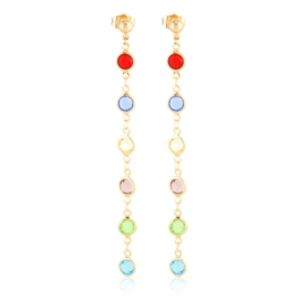 Kolczyki wiszące z kryształkami Xuping EAP18634
