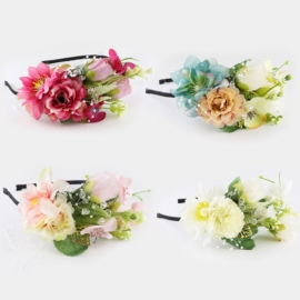 Opaski z kwiatami wianki 12szt/op OPS1145