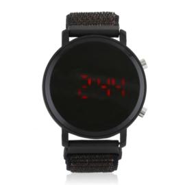 Zegarek damski LED na parcianym pasku Z2714