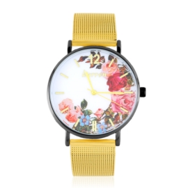 Zegarek damski na bransolecie -flowers- Z2732