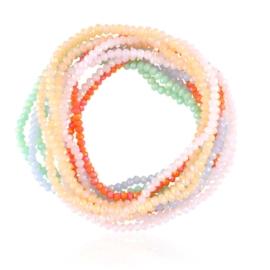 Bransoletki kolorowe kryształki 12SZT - BRA3773