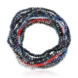 Bransoletki kolorowe kryształki 12SZT - BRA3774