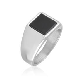 Pierścionek stalowy sygnet Xuping PP3519