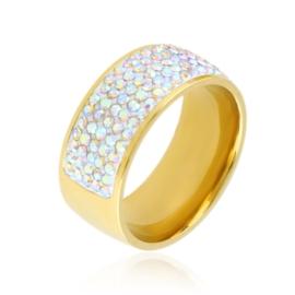 Obrączka stalowa z kryształkami Xuping PP3532