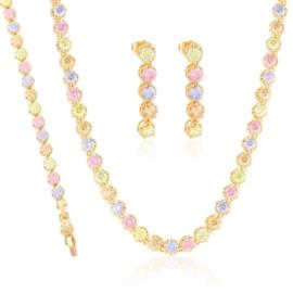 Komplet biżuterii ślubnej Xuping - SKO123