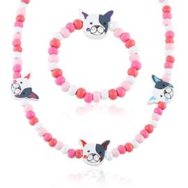 Komplet biżuterii piesek 12szt/op - KOM515