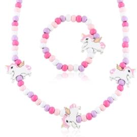 Komplet biżuterii jednorożec 12szt/op - KOM517