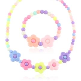 Komplet biżuterii kwiatki 12szt/op - KOM518