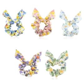 Gumki owijki scrunchie floral 12szt/op OG1371