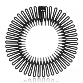 Opaski do włosów słoneczko czarne 12szt/op OPS1247