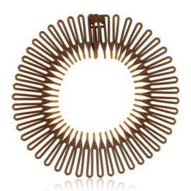 Opaski do włosów słoneczko brąz 12szt/op OPS1248