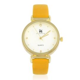 Zegarki damski na pasku pomarańczowy Z2762