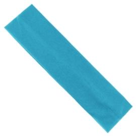 Opaska klasyczna lycra 5cm - niebieska OPS1268