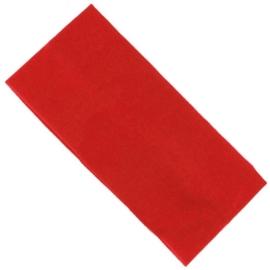 Opaska klasyczna lycra 7cm - czerwona OPS1274