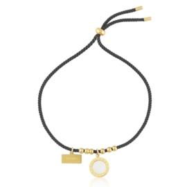 Bransoletka stalowa na sznurku Blueberry BP9714