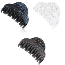 Klamry do włosów brokatowe 8,5cm - 12szt. SZ3755