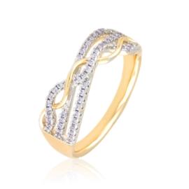 Pierścionek codzienny z kryształkami Xuping PP3638