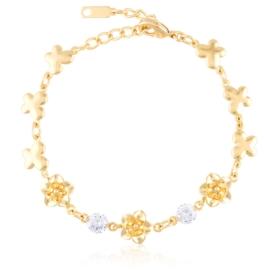 Bransoletka codzienna z kryształkami Xuping BP9838
