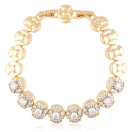 Bransoletka codzienna z kryształkami Xuping BP9841