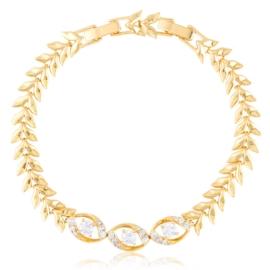 Bransoletka codzienna z kryształkami Xuping BP9842