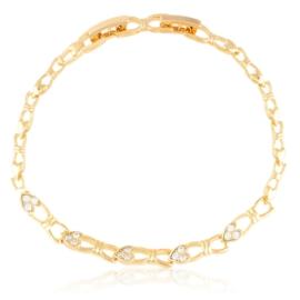 Bransoletka codzienna z kryształkami Xuping BP9843