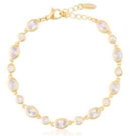 Bransoletka codzienna z kryształkami Xuping BP9844