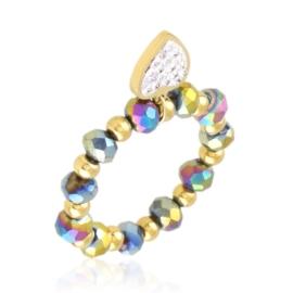 Pierścionek na gumce z koralików Aisadi PP3648