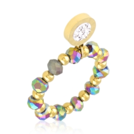 Pierścionek na gumce z koralików Aisadi PP3649