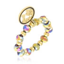 Pierścionek na gumce z koralików Aisadi PP3652