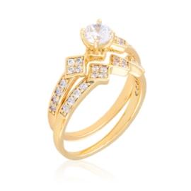 Pierścionek z kryształkami 2w1 Xuping PP3653
