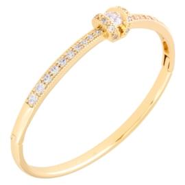 Bransoletka sztywna z kryształkami - Xuping BP9886
