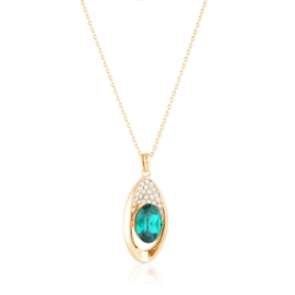 Naszyjnik z kamieniem - zielony CP7206