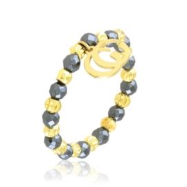 Pierścionek na gumce z koralików Aisadi PP3665