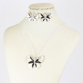 Komplet biżuterii - motylek - KOM549