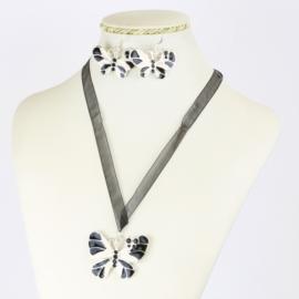 Komplet biżuterii - motylek - KOM550