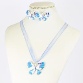 Komplet biżuterii - motylek - KOM551