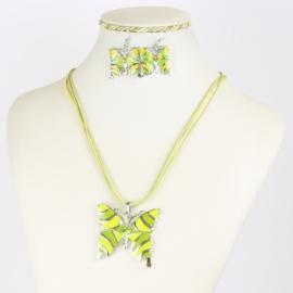 Komplet biżuterii - motylek - KOM553
