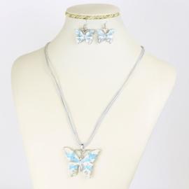 Komplet biżuterii - motylek - KOM554