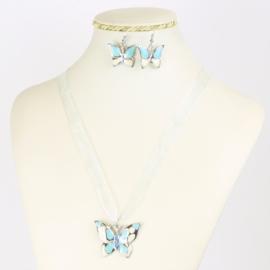 Komplet biżuterii - motylek - KOM555