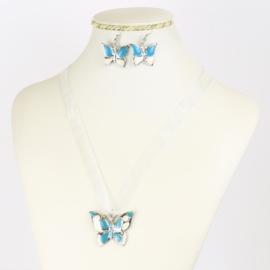 Komplet biżuterii - motylek - KOM556