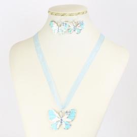 Komplet biżuterii - motylek - KOM557