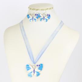Komplet biżuterii - motylek - KOM558