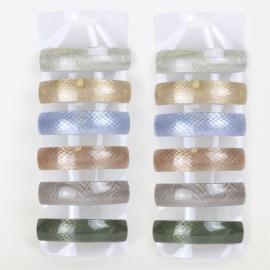 Spinki automaty z brokatem 12szt/op OS1307