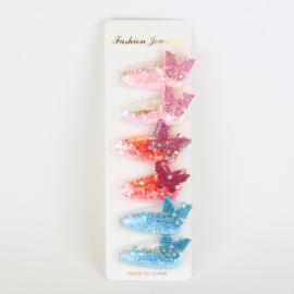Spinki klipsy motylki konfetti 12szt/op OS1318