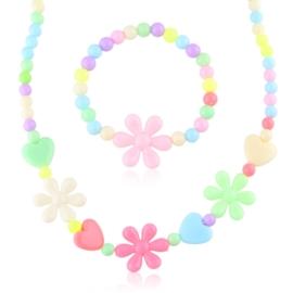 Komplet biżuterii dziecięcej 12szt/op - KOM563