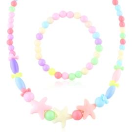 Komplet biżuterii dziecięcej 12szt/op - KOM564