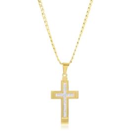 Naszyjnik stalowy z krzyżem Aisadi CP7397